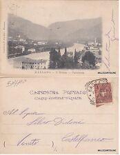 # BASSANO: IL BRENTA - PANORAMA    1900