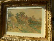 2  Antique watercolour paintings. Landscape, Country Paintings