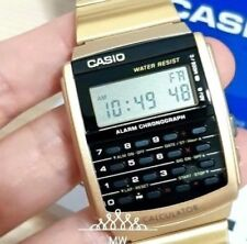 Latest Casio Retro Vintage Databank Gold Tone Stainless Steel Watch CA-506G-9A