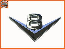 Cromo Auto Adhesivo V8 Insignia Decal Sticker Emblema para American Autos Clásicos