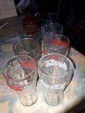 8 verres différents COCA COLA  neufs , jamais utilisés , 8 couleurs