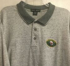 Vintage Nike Golf Mens Polo Golf Shirt Authentic 90s Gray Speckled Cvs Size Xxl
