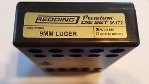 66172 REDDING PREMIUM TITANIUM CARBIDE 3-DIE SET - 9MM LUGER - BRAND NEW