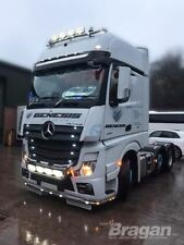 To Fit 2012+ Mercedes Actros MP4 GigaSpace Roof Bar + Jumbo Spots + Clear Beacon