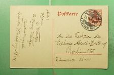 DR WHO 1913 GERMAN LEVANT OVPT POSTAL CARD CONSTANTINOPLE TO GERMANY  g21400