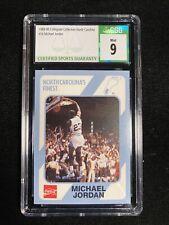 1989 North Carolina Michael Jordan Collegiate Collection Rookie CSG MINT 9 #16