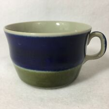 Rorstrand Elisabeth Coffee Cup Sweden Stoneware Marianne Westman MCM Green Blue