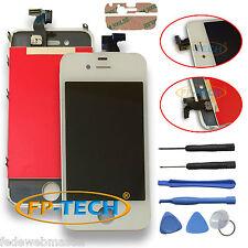 TOUCH SCREEN DISPLAY LCD RETINA SCHERMO VETRO + FRAME PER APPLE IPHONE 4 BIANCO