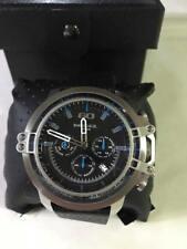 DZ4408 Diesel Men's Deadeye Stainless Steel Black Leather Watch