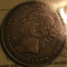 1888 NEWFOUNDLAND SILVER 50 CENTS - ICCS Certified F-15