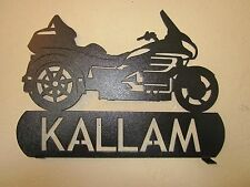 CUSTOM GOLDWING TRIKE MOTORCYCLE MAILBOX TOPPER (YOUR NAME)