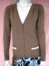 Strickjacke Gr. S Tom Tailor Jacke Braun Damen Shirtjacke V-Ausschnitt
