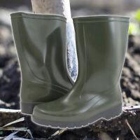 High-Quality Green Mid Calf Wellington Boots Waterproof PVC Wellies Gardening