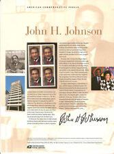 #884 (45c)Forever John H. Johnson Publisher #4624 USPS Commemorative Stamp Panel