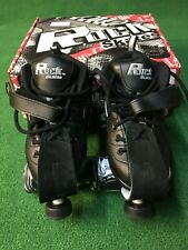 SUREGRIP ROCK ROLLER QUAD SKATES GT-50 SIZE 7 BLACK BRAND NEW IN BOX