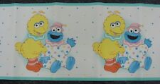 Wallpaper Border Childrens Sesame Sreet Baby Cookie Monster Big Bird Kids Dado