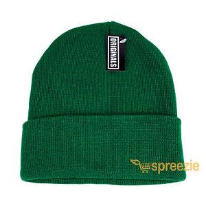 Green Beanie Plain Knit Ski Hat Skull Cap Cuff Warm Winter Blank Unisex