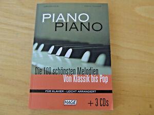 Piano Piano Die 100 schönsten Melodien von Klassik bis Pop Klavier leicht + 3CDs