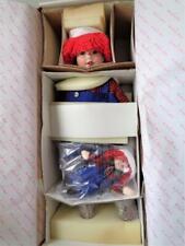 "NEW in Box Danbury Mint RAGGEDY ANDY Porcelain Doll by Artist Kelly RuBert 24"""