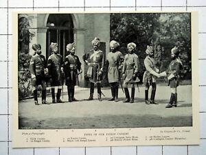 1897 TYPES OF INDIAN CAVALRY ~ Bengal Punjab Bengal Lancers Madras Lancers