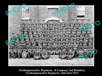 OLD 6X4 HISTORIC MILITARY PHOTO OF NORTHAMPTONSHIRE REGIMENT 2nd BATTALION 1934