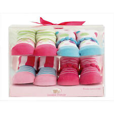 LUVABLE FRIENDS 4  x Cotton Girl Baby Novelty Socks Gift Box 0-9 Mths BRAND NEW