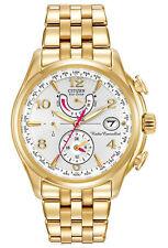 New Citizen FC0002-53A Eco-Drive Perpetual Calendar A-T Gold Tone Women's Watch