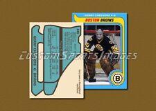 Gerry Cheevers - Boston Bruins - Custom Hockey Card  - 1978-79