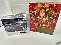 TWO JIG SAW PUZZLES - ONE VINTAGE/ONE NEWER -  CLASSIC THEMES