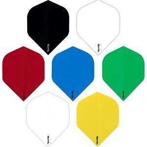 10 Sets (30) Poly Plain Dart Flights Solid Colours DSP Standard