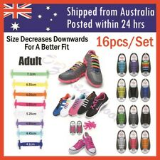 Elastic Silicone Shoe Laces Shoelaces Lazy No Tie Shoelaces 1 Set 16pcs Adult