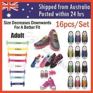 Elastic Silicone Shoe Laces Shoelaces Lazy No Tie Shoelaces 1 Set 16pcs Adult