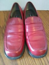 Vintage Tommy Hilfiger Red Leather Loafers Sz 8M