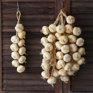 Hanging Foam Artificial Foam Garlic Onion Party Kitchen Decor Photography Props