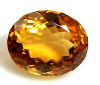 Loose Gem Stone 11.25 Ct Natural Deep Yellow Citrine Certified AAA+ Quality Oval