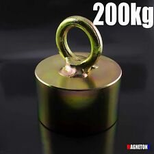 Neodymium MAGNETS 200kg Power Magnet Fishing POT METAL DETECTOR Handle HOOK