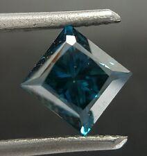 2.02 Clean Fancy Blue Color Enhanced Diamond Princess Cut VS Real Image Gorgeous