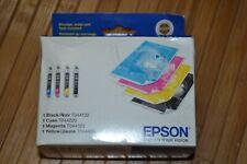 Genuine EPSON T44120 Black Cyan Magenta Yellow Ink Cartridges 4 Pack OEM 8/2008