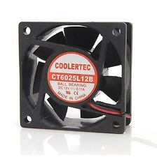COOLERTEC PC Computer Case Cooling Fan Cooler 6cm 60mm 4Pin 60x60x25mm Silent
