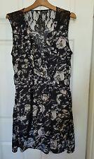 CITY CHIC Lace Black Floral Dress Plus Size M 16 18