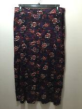 Viscose Long Regular Size Floral Skirts for Women