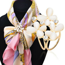 1PC Women's Scarf Rings Shawl Buckle Clip Holder Brooch Pin Jewelry