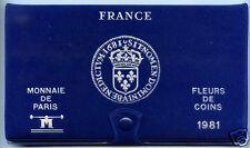 MONNAIE DE PARIS COFFRET FDC FLEUR DE COIN 1981