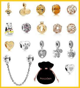 Genuine Pandora Sterling Silver 925 ALE MET R Rose Gold Bracelet Charm Beads