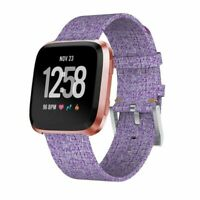 Woven Fabric Replacement Wristband Strap Watch Band For Fitbit Versa 2/1- Purple