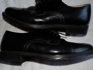 clarks black leather shoes size 8.5 uk super cond