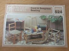 Specialist Crafts Leaflet 524 - cord & seagrass Seating - 15 Pages