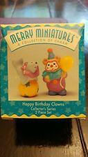 Merry Miniatures Hallmark Happy Birthday Clowns Nib