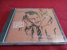 """CD """"PAROLE D'AMORE SCRITTE A MACCHINA"""" Paolo CONTE"""