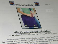 Felted Purse Bag Knitting Pattern Designs by Shelley 23  The Slingback